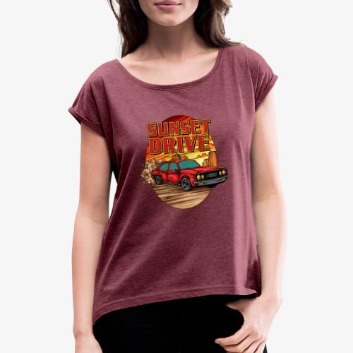 Sunset Drive - T-shirt à manches retroussées Femme