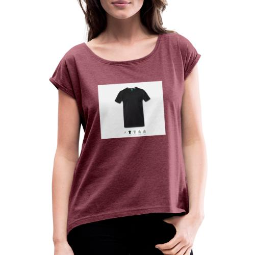green1 - Women's T-Shirt with rolled up sleeves