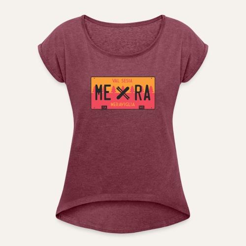 Plates III Mera - Maglietta da donna con risvolti