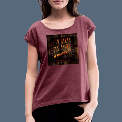 Talfho Logo Vintage Saison 3 - T-shirt à manches retroussées Femme