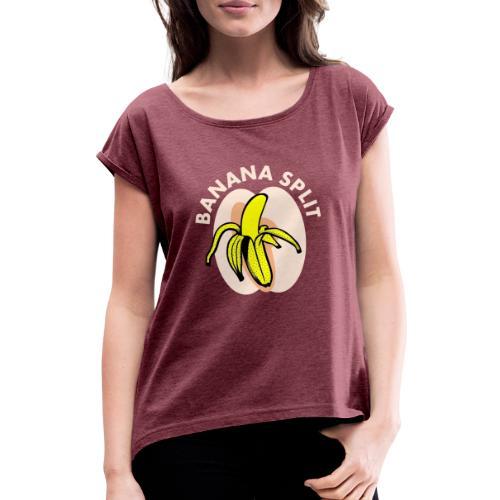 Banane split - T-shirt à manches retroussées Femme
