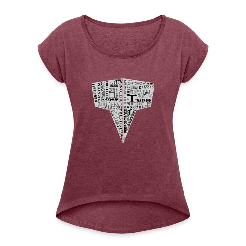 Word Logo // Kaskobi - Women's T-Shirt with rolled up sleeves