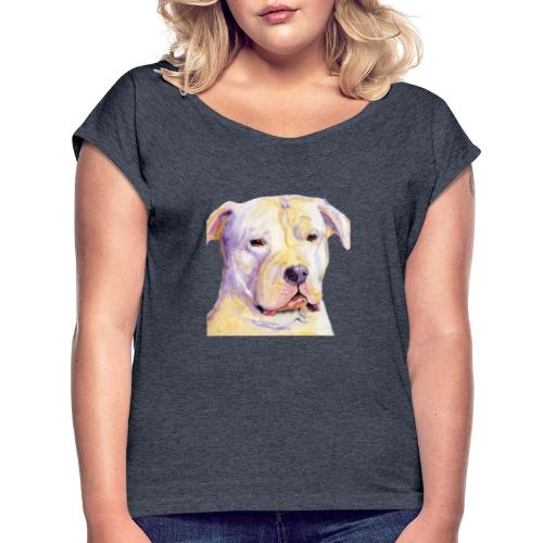 dogo argentino - Dame T-shirt med rulleærmer