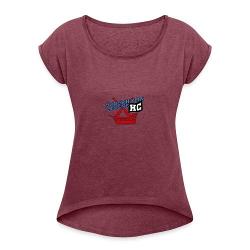 SL Hockey - T-shirt med upprullade ärmar dam