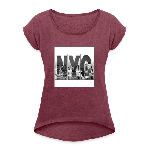 comanche - Camiseta con manga enrollada mujer