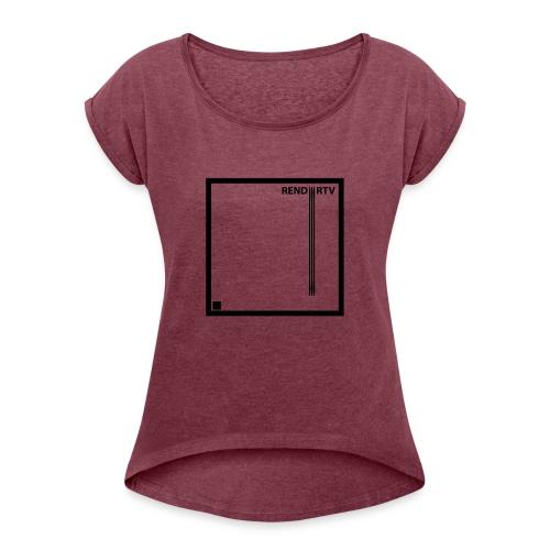 Tecnica cuadrada - Camiseta con manga enrollada mujer