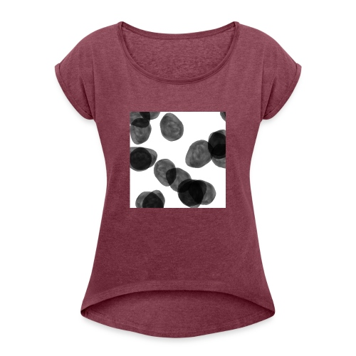 Black clouds - Women's T-Shirt with rolled up sleeves