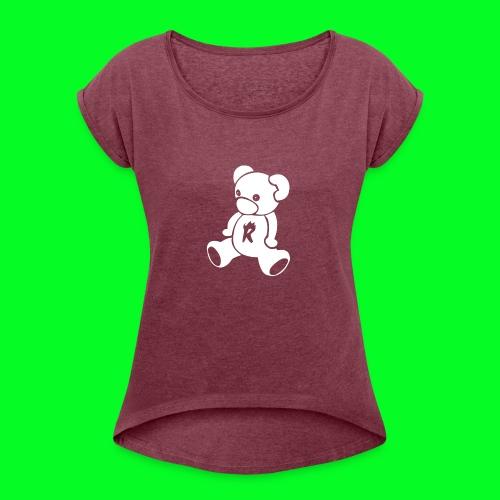 MiniSmikkelBeerRugzak - Vrouwen T-shirt met opgerolde mouwen