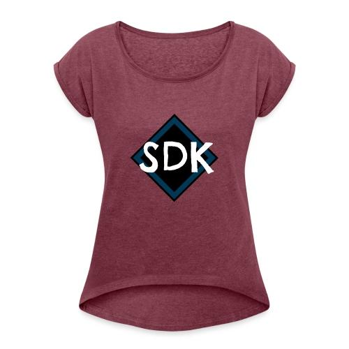 Snapback cap - Dame T-shirt med rulleærmer