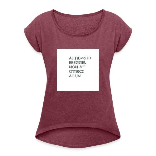 MA NON SAI LEGGERE????? - Maglietta da donna con risvolti