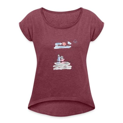 Lances Love - Camiseta con manga enrollada mujer
