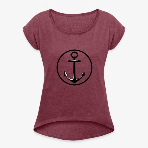 LOGO_anger - Dame T-shirt med rulleærmer