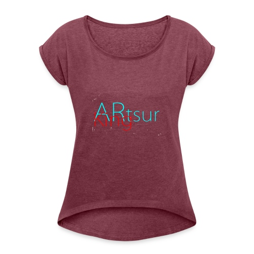 ARtsurKing Logo - Women's T-Shirt with rolled up sleeves