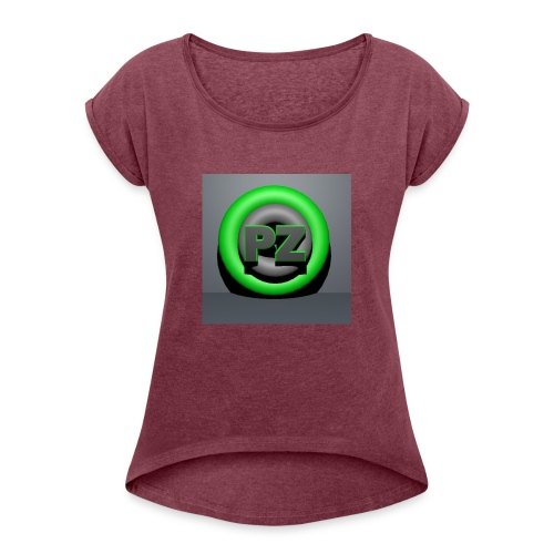 Pandzyz - T-skjorte med rulleermer for kvinner