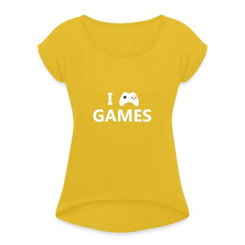 I Love Games 2 - Camiseta con manga enrollada mujer