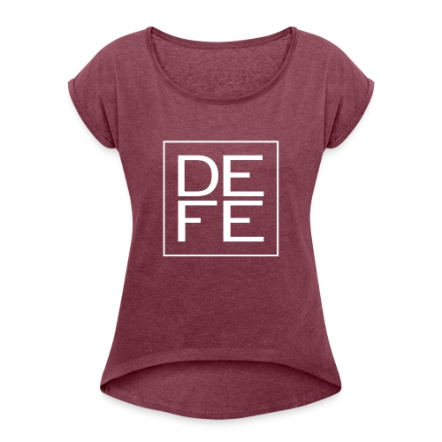 defelogo - Women's T-Shirt with rolled up sleeves