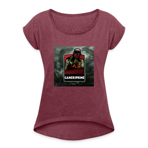 gamersprime - T-skjorte med rulleermer for kvinner
