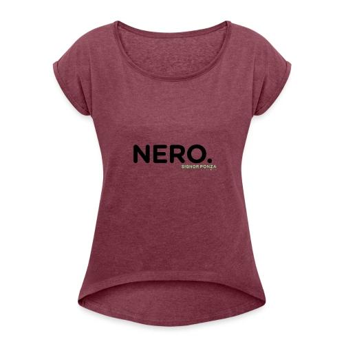 NERO. - Maglietta da donna con risvolti