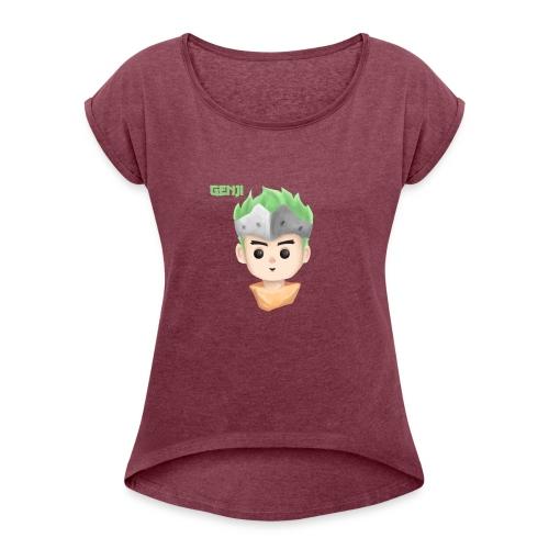 Young Genji - Made by Alpha - Frauen T-Shirt mit gerollten Ärmeln