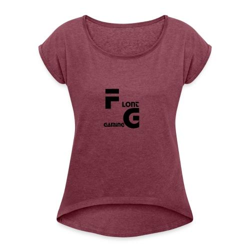 Flont Gaming merchandise - Vrouwen T-shirt met opgerolde mouwen
