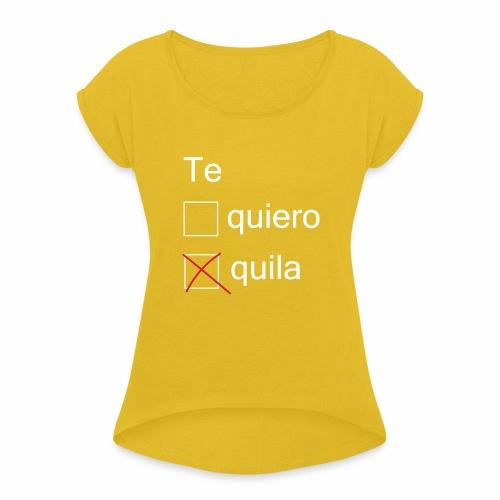 tequila - T-shirt à manches retroussées Femme