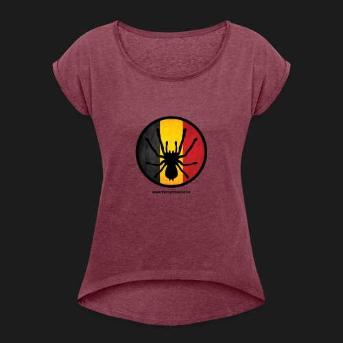 T shirt design - Women's T-Shirt with rolled up sleeves