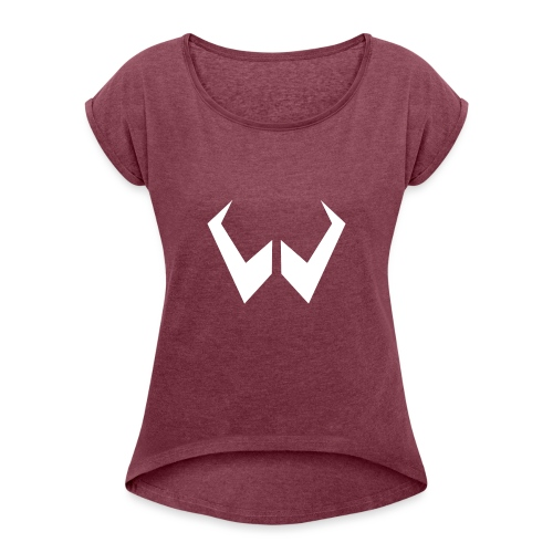 logo de without gravity pk - Camiseta con manga enrollada mujer