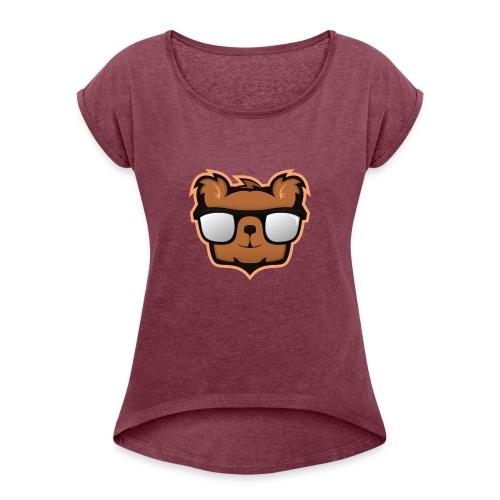 KimpolinoBjörnen - T-shirt med upprullade ärmar dam