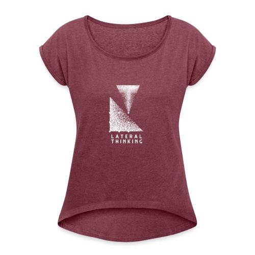 Lateral Thinking - T-shirt à manches retroussées Femme