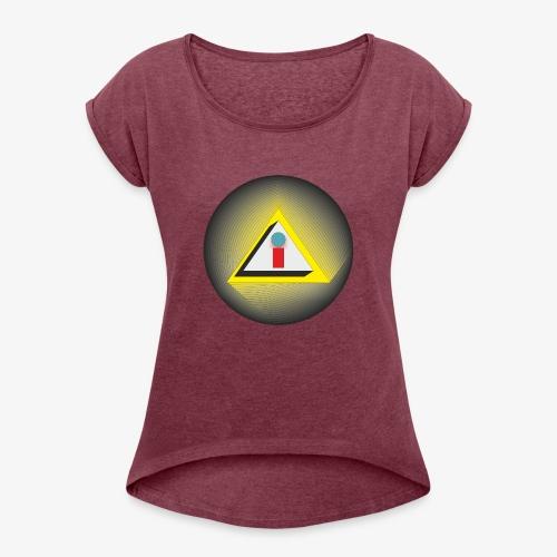 i - Camiseta con manga enrollada mujer
