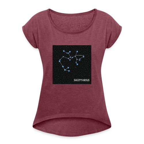 Sagittaire - T-shirt à manches retroussées Femme