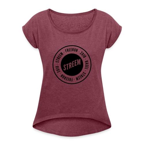 Kappe - Frauen T-Shirt mit gerollten Ärmeln