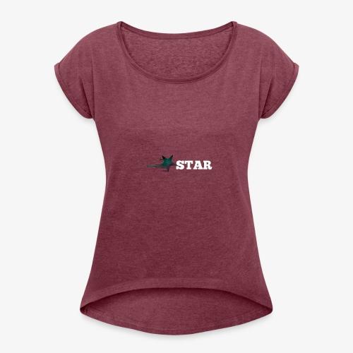 Star Kollektion - Frauen T-Shirt mit gerollten Ärmeln