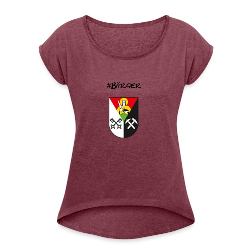 Bärger - Frauen T-Shirt mit gerollten Ärmeln