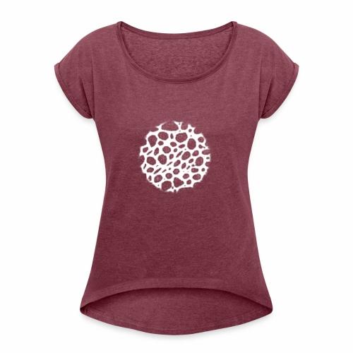 Muster Netz Weiß - Frauen T-Shirt mit gerollten Ärmeln