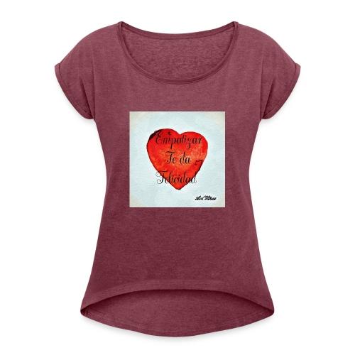 Empatizar - Camiseta con manga enrollada mujer