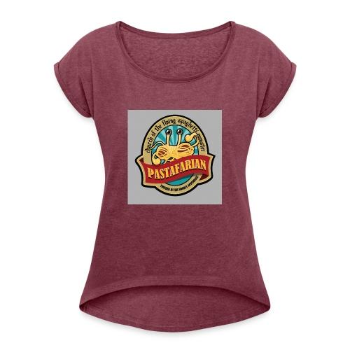 Pastafari - T-shirt med upprullade ärmar dam