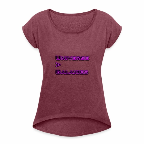 Universe > Galaxies - Women's T-Shirt with rolled up sleeves