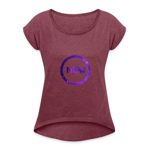 NEM OWNER - Naisten T-paita, jossa rullatut hihat