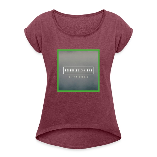 FOTO DEL SINGLE - Camiseta con manga enrollada mujer