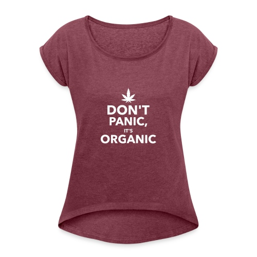 Don't panic it's organic - T-shirt à manches retroussées Femme