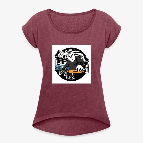 logo test hardtekno - T-shirt à manches retroussées Femme