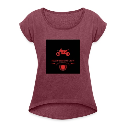 Für die Fans :D - Frauen T-Shirt mit gerollten Ärmeln
