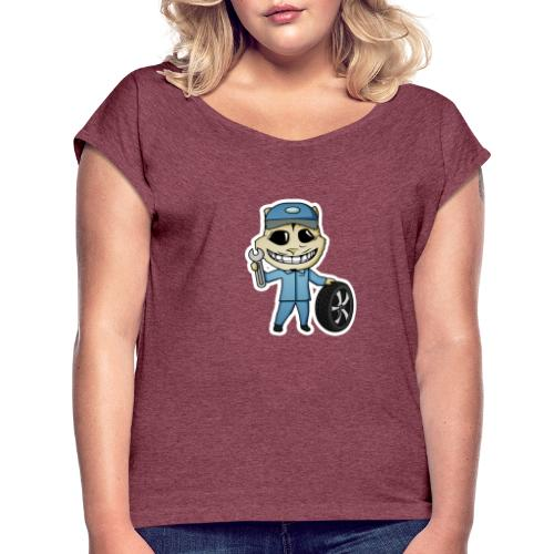 mech - Vrouwen T-shirt met opgerolde mouwen