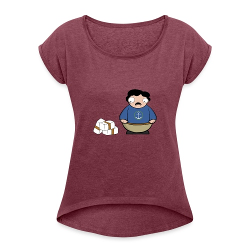 Pablito. - Camiseta con manga enrollada mujer