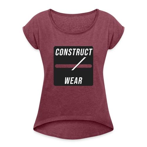constructwear. Future design - Frauen T-Shirt mit gerollten Ärmeln