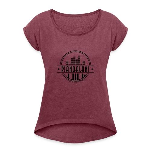 001 - Frauen T-Shirt mit gerollten Ärmeln