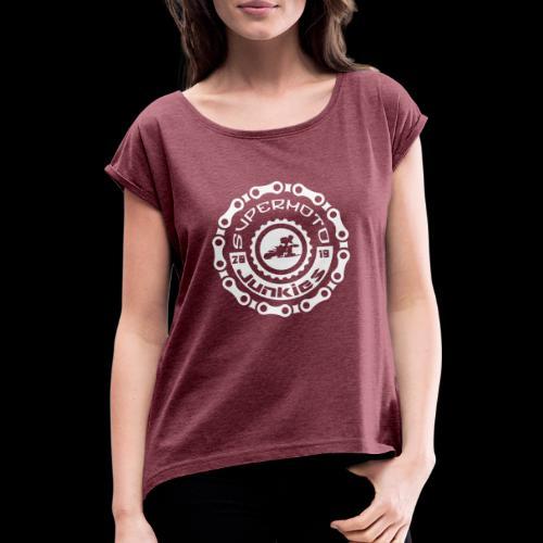 SM Junkies - Frauen T-Shirt mit gerollten Ärmeln