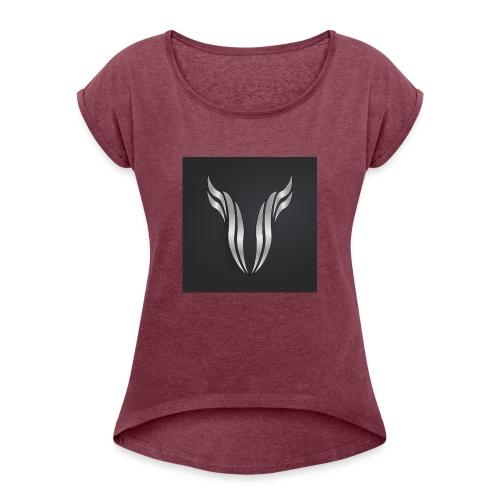logo 1836334 1280 - T-shirt à manches retroussées Femme