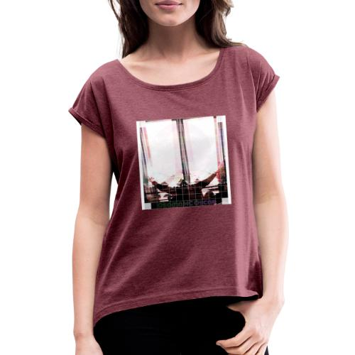 Osama MC Oscar - T-shirt med upprullade ärmar dam
